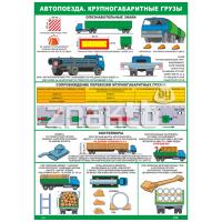 2829 Плакат Автопоезда. Крупногабаритные грузы