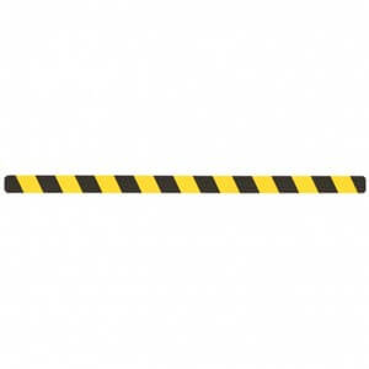 Абразивная фотолюминисцентная лента, желто-черная