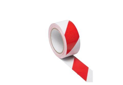 Лента оградительная красно-белая, эконом, 50mm*100m