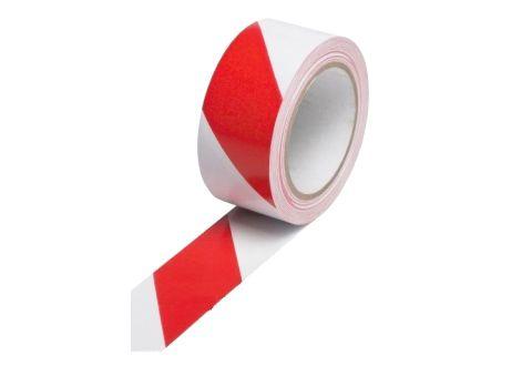 Лента оградительная красно-белая, эконом, 50mm*500m