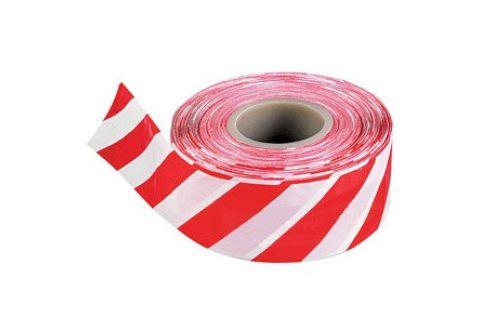 Лента оградительная красно-белая, эконом, 75mm*500m