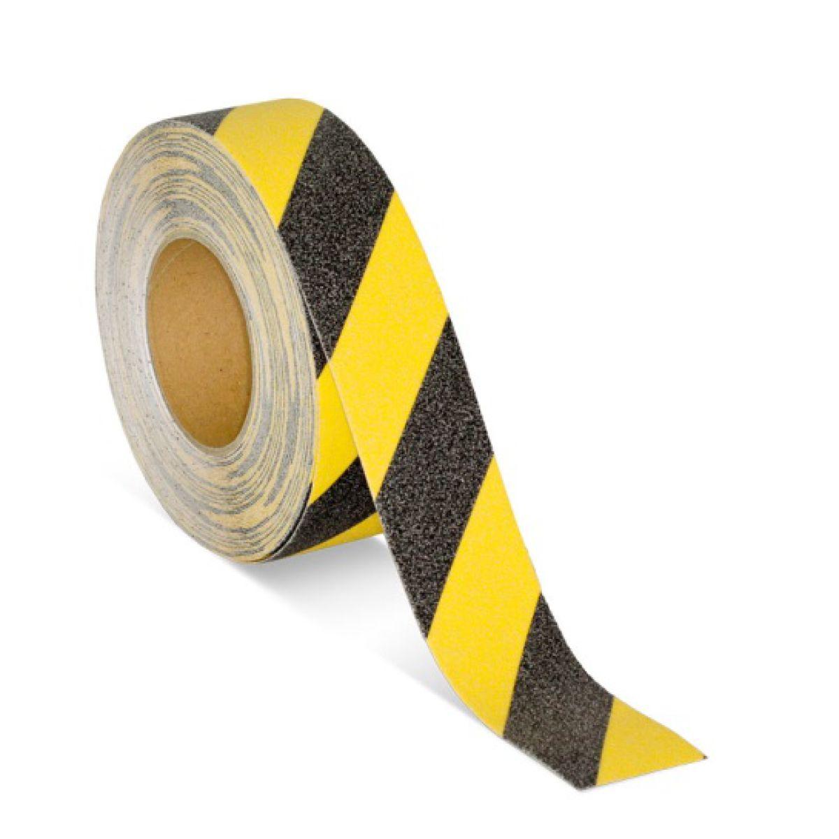 Противоскользящая лента желто-черная