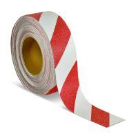Противоскользящая лента красно-белая 50мм*18,3 м