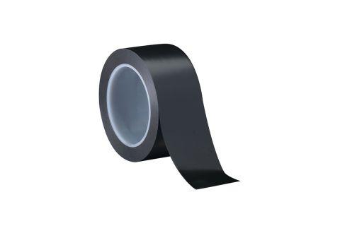 Лента ПВХ для разметки, черная 5cm*22m