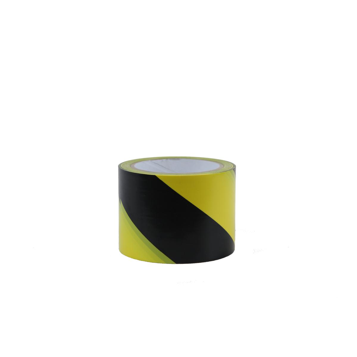 Лента ПВХ для разметки, желто/черный 75 мм *33 м
