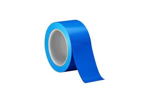 Лента ПВХ для разметки, синяя 5cm*22m