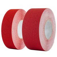 Износостойкая абразивная лента для напольной разметки US501, красная 50 мм, 100 мм.