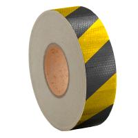 Лента светоотражающая высокоинтенсивная US440 желто-черная 50мм*45.7м