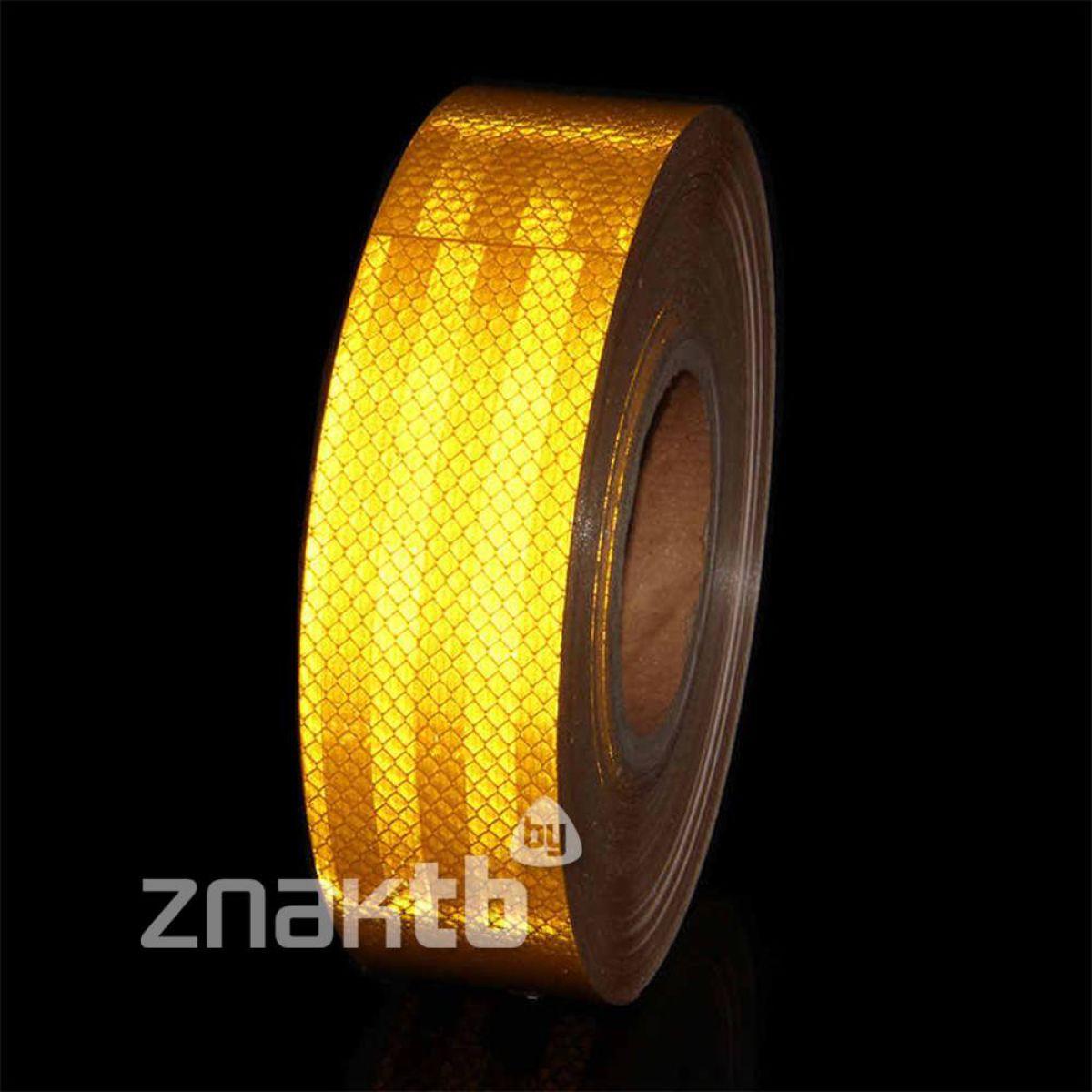 Лента светоотражающая высокоинтенсивная US450 желтая 50мм*45.7м