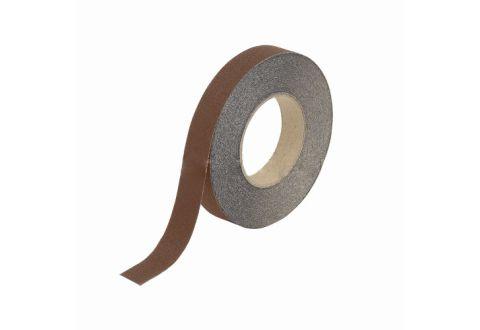 Лента противоскользящая коричневая 25 мм*18,3 м