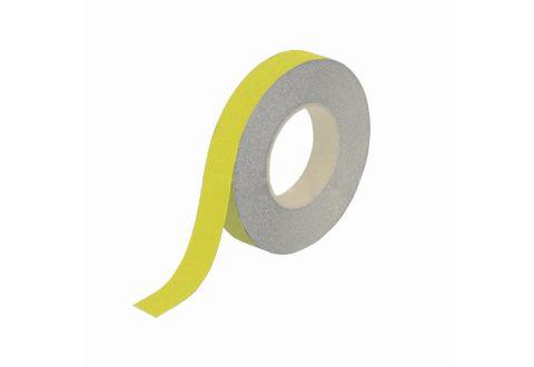 Лента противоскользящая желтая 25 мм*18,3 м