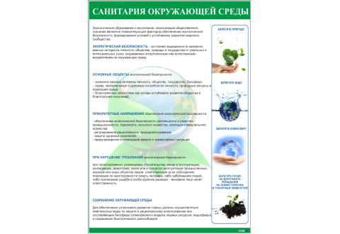 2004 Санитария окружающей среды плакат