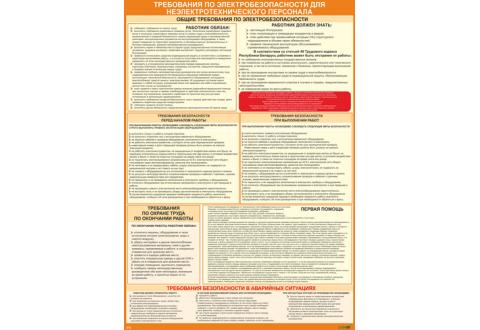 2313 Плакат Требования по электробезопасности для неэлектротехнического персонала
