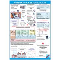 2405 Плакат по охране труда  Компьютер и безопасность