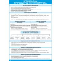 2643 Плакат по охране труда Профилактика производственного травматизма