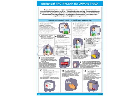 2601 Плакат по охране труда  Вводный инструктаж по охране труда