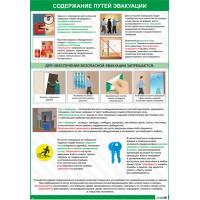2612 Плакат по охране труда Правила содержания путей эвакуации