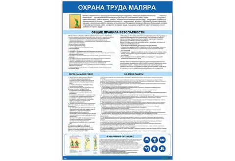 Плакат по охране труда  Охрана труда маляра