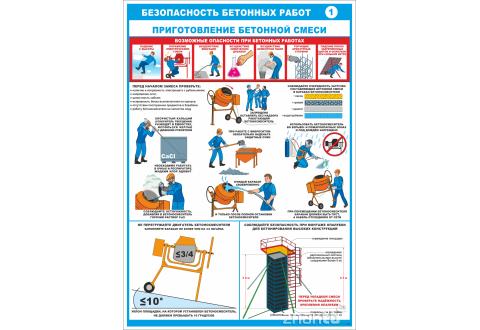2543 Плакат Безопасность бетонных работ 1