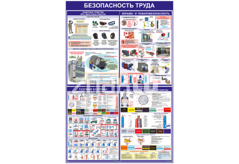 """Стенд информационный """"Безопасность труда """" 1200*800 мм"""