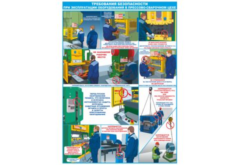 2939 Требования безопасности при эксплуатации оборудования в прессово-сварочном цехе