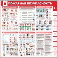 """Стенд информационный """"Пожарная безопасность"""", 1000*1000 мм"""