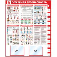 """Уголок пожарной безопасности """"Пожарная безопасность"""", 1000*1250 мм"""