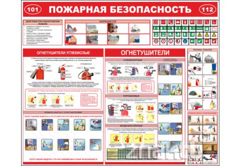 4512 Стенд Пожарная безопасность 1200x1000мм