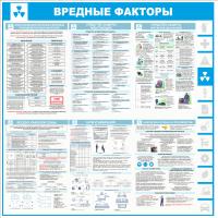 """Стенд информационный """"Вредные факторы"""", 1000*1000 мм"""