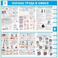"""Уголок по охране труда """"Информация для офиса"""", 1000*1000 мм"""