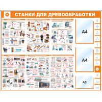 "Уголок по охране труда ""Станки"", 1250*1000 мм"