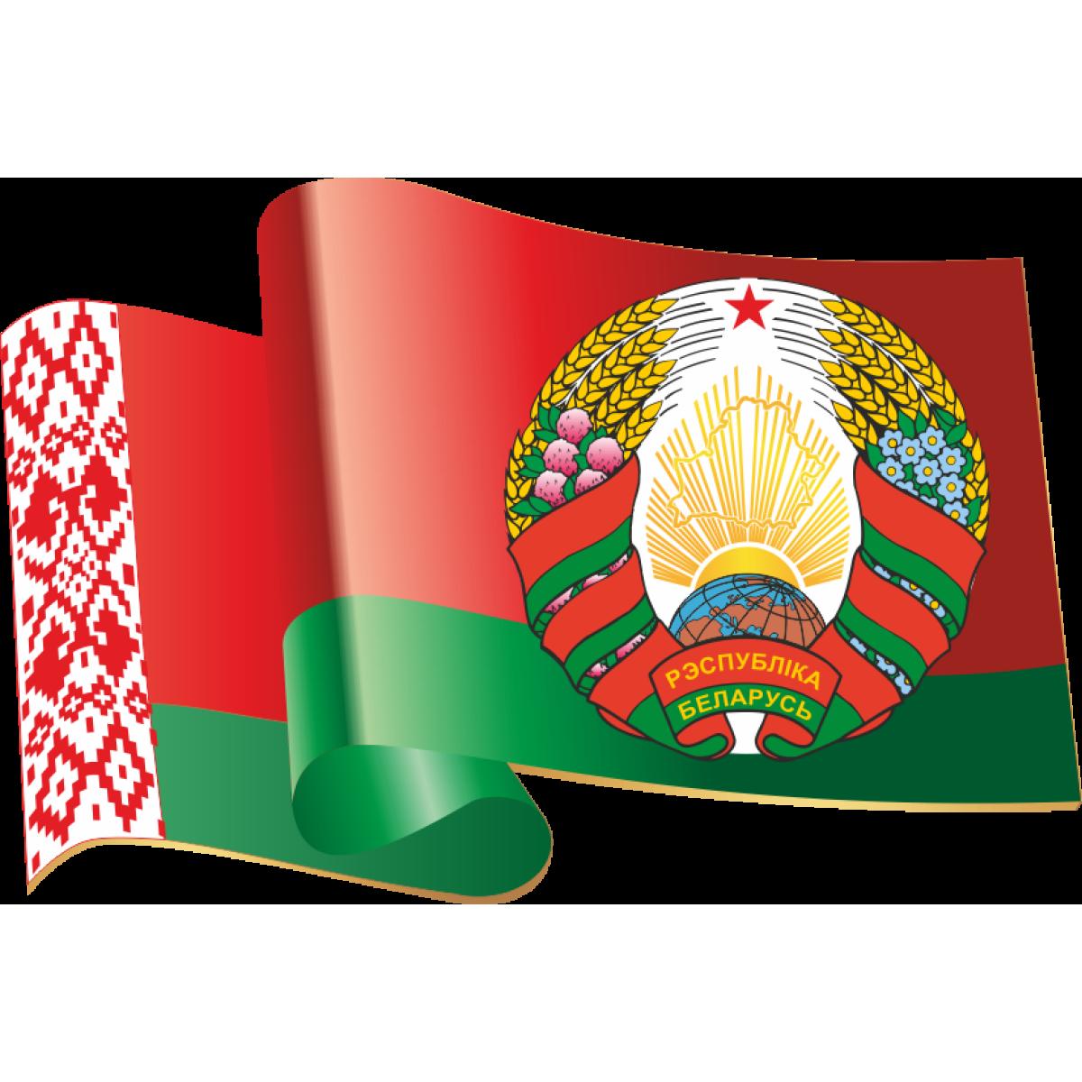 4420 Фигурная форма государственный флаг и государственный герб Республики  Беларусь (3572) купить в Минске, цена