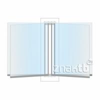 8112 Перекидная система на 4 книжных листа А4, жесткие листы