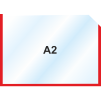 Пластиковый карман А2 горизонтальный самоклеющийся, КРАСНЫЙ