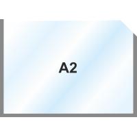 Пластиковый карман А2 горизонтальный самоклеющийся, СЕРЫЙ