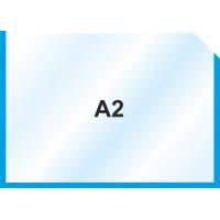Пластиковый карман А2 горизонтальный самоклеющийся, СИНИЙ