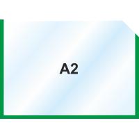 Пластиковый карман А2 горизонтальный самоклеющийся, ЗЕЛЕНЫЙ