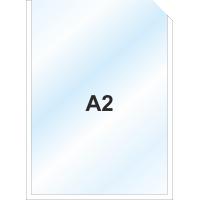 Пластиковый карман А2 вертикальный самоклеющийся, БЕЛЫЙ