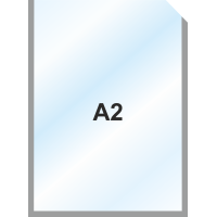 Пластиковый карман А2 вертикальный самоклеящийся, СЕРЫЙ