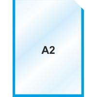 Пластиковый карман А2 вертикальный самоклеющийся, СИНИЙ