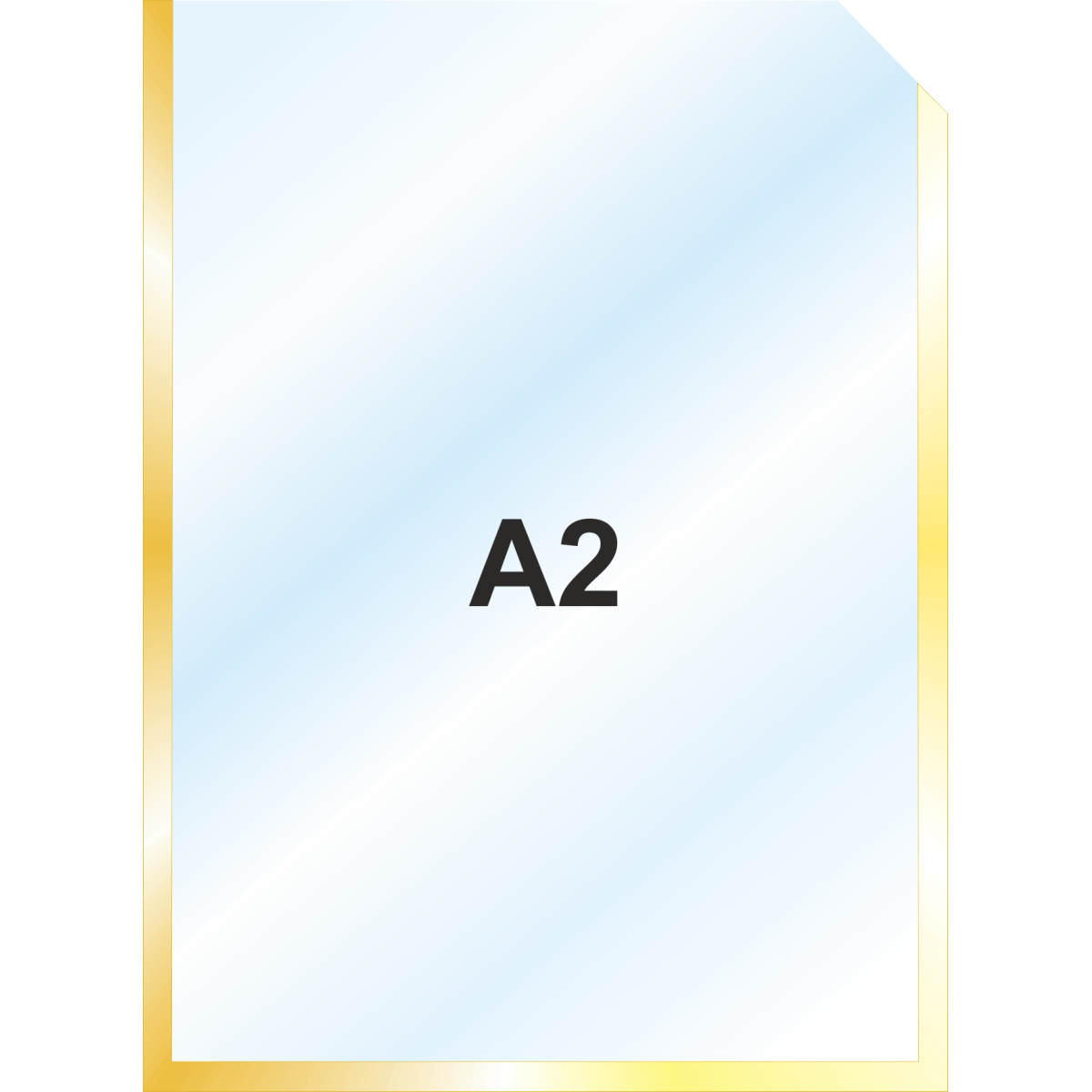 Пластиковый карман А2 вертикальный самоклеящийся, ЗОЛОТОЙ