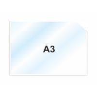 Пластиковый карман А3 горизонтальный, БЕЛЫЙ