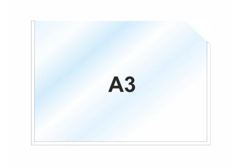 Пластиковый карман А3 горизонтальный самоклеящийся, БЕЛЫЙ