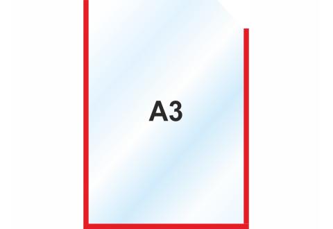 Пластиковый карманы А3 вертикальный, красный