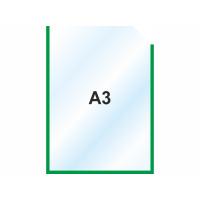 Пластиковый карманы А3 вертикальный, зеленый