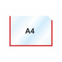 Пластиковый карманы А4 горизонтальный, красный