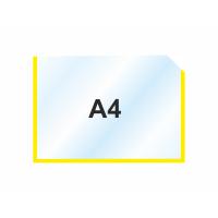 Пластиковый карманы А4 горизонтальный, желтый