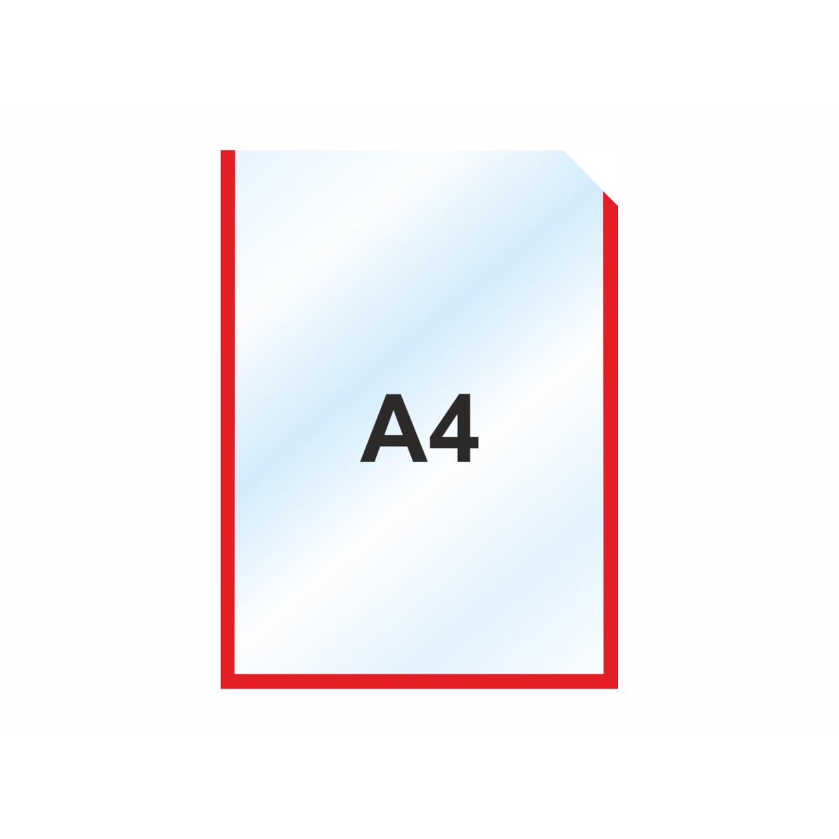 Пластиковый карманы А4 вертикальный, красный