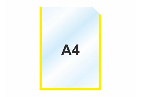 Пластиковый карманы А4, желтый