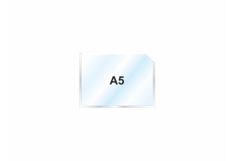 Пластиковый карман А5 горизонтальный самоклеющийся, СЕРЕБРИСТЫЙ
